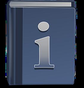 Zu sehen ist ein blaues Wörterbuch mit einem großen i auf der Titelseite (c: pixabay)